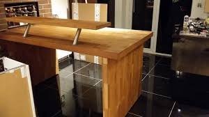 Oak Breakfast Bar Table Oak Breakfast Bar Ebay Regarding Table Ikea Plan I Believe This Is