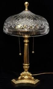 Brass And Crystal Table Lamps Waterford Crystal Crystal Table Lamp Foter