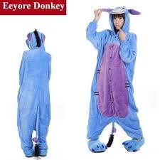 Eeyore Halloween Costume Eeyore Donkey Unisex Kigurumi Onesie Animal Pajama Cosplay Costume