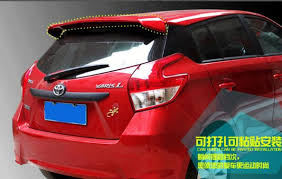 toyota yaris paint higher stronger abs material car rear wing spoilers empennage