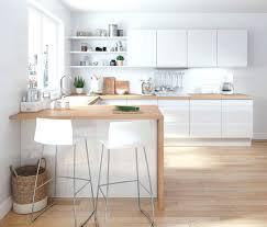 decoration du cuisine decoration de cuisine du blanc et du bois pour la cuisine