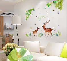 online buy wholesale deer wallpaper from china deer wallpaper the wizard of oz stickers sika deer wallpaper household adornment to wall stickers decoration furnishing art