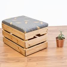 Gold Storage Ottoman by Upcycled Apple Crate Ottoman Foot Stool Seat Storage Box With