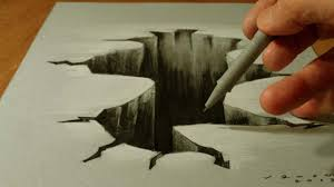 3d drawing hole trick art on paper how to draw 3d hole youtube