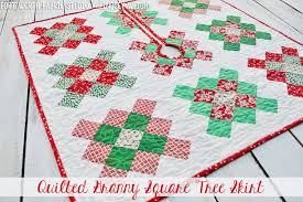 fort worth fabric studio square quilted tree skirt pillow