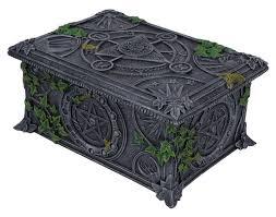 wiccan pentagram tarotkaarten opbergdoos 17 cm lang home