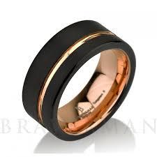 Black Gold Wedding Rings by Black Tungsten Ring Rose Gold Wedding Band Ring Tungsten 9mm 18k