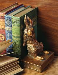rabbit bookends gilded bunny bookends gold rabbit bookends