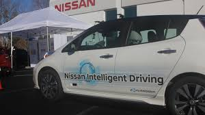nissan family car riding in nissan u0027s self driving car is still a white knuckle