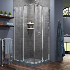 34 Shower Door Dreamline Cornerview 34 1 2 In X 72 In Framed Corner Sliding