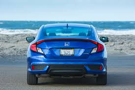 honda civic rear 2016 honda civic coupe touring one week review automobile magazine