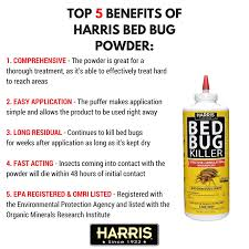 Treatment For Bed Bugs Amazon Com Harris Bed Bug Killer Diatomaceous Earth Powder 1 2