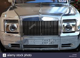 roll royce dubai united arab emirates dubai silver rolls royce car stock photo