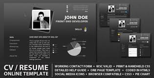 Resume Design Online by 20 Professional Html U0026 Css Resume Templates For Free Download And