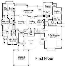 Home Design 8x16 Craftsman Style House Plan 4 Beds 4 00 Baths 4164 Sq Ft Plan