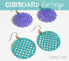 cardboard earrings chipboard earrings cutesy crafts