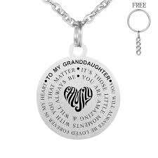 granddaughter jewelry to my granddaughter necklace stainless steel engraved letters
