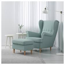 Turquoise Armchair Strandmon Wing Chair Skiftebo Light Turquoise Ikea