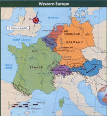 Western Europe Map by Western Europe Thinglink