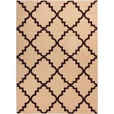 designera collection trellis design ivory and grey 6 ft 7 in x 9