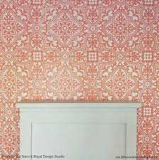 Tile Wallpaper Large Diy Tile Stencils For Painting Walls And Floors Royal