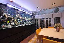 dining room table fish tank aquarium architecture