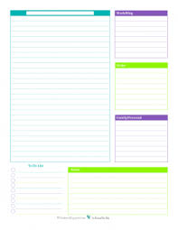 printable daily schedule daily planner printables personal planner