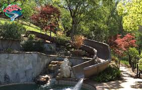 Backyard Pool With Slide - custom water slide model ps47l c in cafe with splash guards