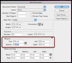 indesign cs6 margins for beginners