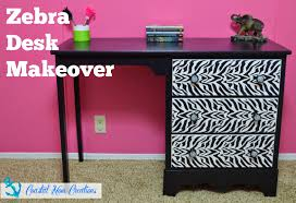Contact Paper Desk Makeover Coastal Mom Creations 2015