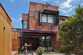 decorations unique modern house with dark brown brick outdoor