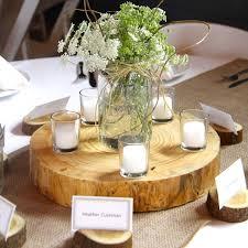 Wood Centerpieces De Novo Barn Wedding U0026 Event Venue Decorah Iowa