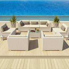 White Wicker Outdoor Patio Furniture - outdoor couch