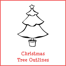 christmas tree outlines gift curiosity