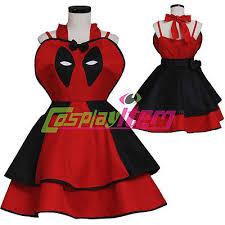 Deadpool Halloween Costume Deadpool Inspired Deadpool Dress Cosplay Costume Suit Apron