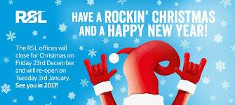 rsl news season s greetings from everyone at rsl