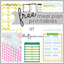 printable meal planner free free meal plan printables a thrifty mrs