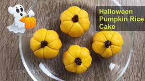 Pumpkin Cake Halloween by Steamed Sticky Rice Pumpkin Cake Glutinous Rice Red Bean Filling