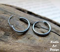earrings for men small black hoop earrings for men unisex silver hoops huggies