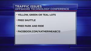 offshore technology conference how to avoid traffic delays near
