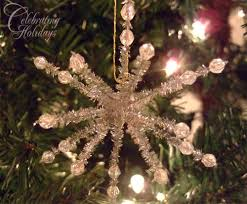 chenille stem snowflake craft celebrating holidays