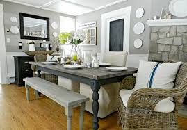 Dining Room Wicker Chairs Country Dining Room Interior Design With Wicker Chairs And Superb