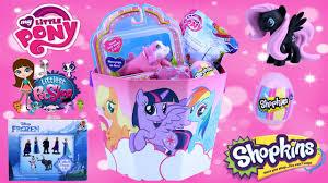 my pony easter basket my pony basket shopkins easter eggs frozen