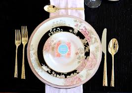 Formal Setting Of A Table Setting A Boho Chic Table With Marchesa By Lenox U2014 Table Dine By