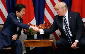 a japanese man pass by is trump following a u0027japan first u0027 policy against kim jong un