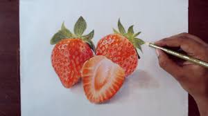 drawing strawberry prismacolor pencils youtube
