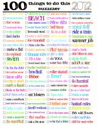 what to do with an 100 things to do this summer pdf jaderbomb