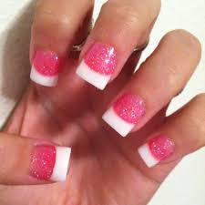 pink and white tip nails how you can do it at home pictures