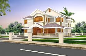 architecture 3d home design with great construction and