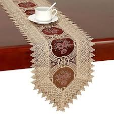 48 inch table runner simhomsen vintage gold burgundy lace table runner and dresser